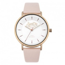SUPERDRY OXFORD PASTEL POP pink leather strap SYL190CRG