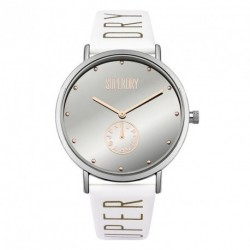 SUPERDRY OXFORD white leather strap