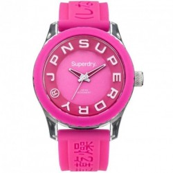 SUPERDRY SCUBA DEEP SEA fuchsia rubber strap