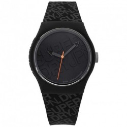 SUPERDRY URBAN black rubber strap SYG169B