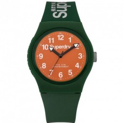 SUPERDRY URBAN green rubber strap SYG1640N