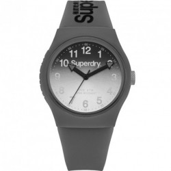 SUPERDRY URBAN grey rubber strap SUG198EE