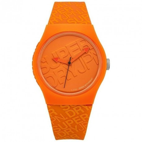 SUPERDRY URBAN orange rubber strap