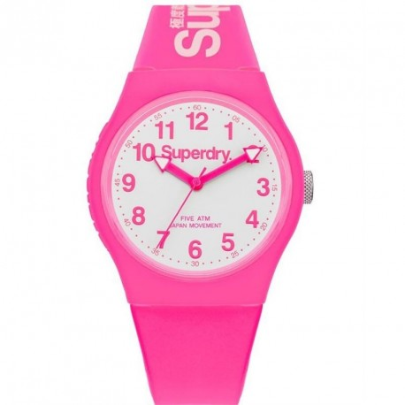 SUPERDRY URBAN pink rubber strap SYG164PW