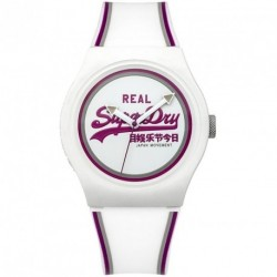 SUPERDRY URBAΝ white rubber strap SYG198WR