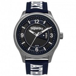 SUPERDRY YOKOHAMA ATHLETICS blue leather strap SYG171UW
