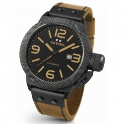 TW STEEL CANTEEN STYLE AUTOMATIC 50mm brown leather