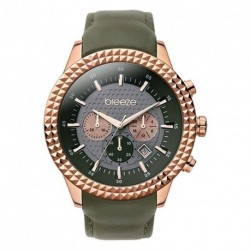 ΓΥΝΑΙΚΕΙΟ ΡΟΛΟΪ BREEZE SHINING TRIBUTE chaki leather strap 110121.6