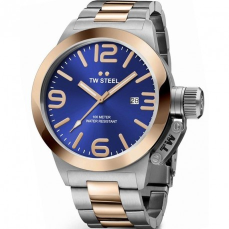 TW STEEL CANTEEN STYLE BLUE DIAL 50mm CB142