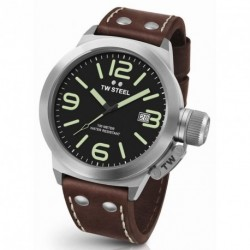 TW STEEL CANTEEN STYLE brown leather strap