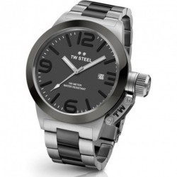 TW STEEL CANTEEN STYLE GREY STAINLESS STEEL BRACELET CB201