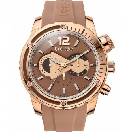 BREEZE STYLE COMPASS brown rubber strap 110401.5
