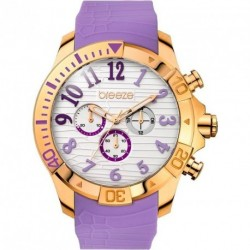 ΓΥΝΑΙΚΕΙΟ ΡΟΛΟΪ BREEZE SUNSATION chronograph purple rubber strap