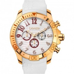 BREEZE SUNSATION chronograph white rubber strap