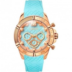 BREEZE WANDERLUST cyan rubber strap 110581.6