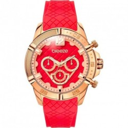 BREEZE WANDERLUST red rubber strap