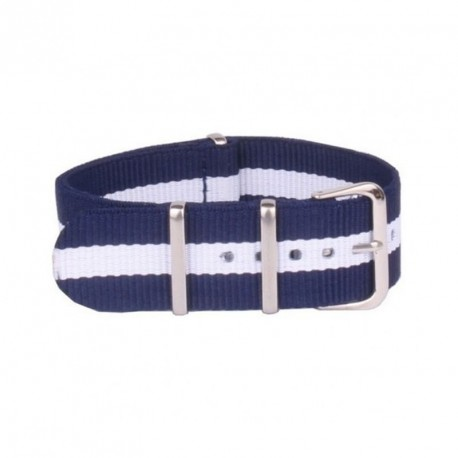 BLUE - WHITE NATO FABRIC STRAP