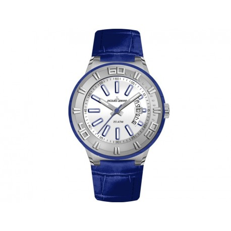 JACQUES LEMANS MIAMI COLLECTION blue leather strap 1-1771C