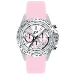 JACQUES LEMANS FORMULA 1 COLLECTION CHRONO pink leather strap