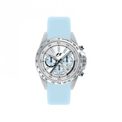 JACQUES LEMANS FORMULA 1 COLLECTION CHRONO light blue leather strap F5006E