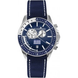 JACQUES LEMANS GREEK SOCCER CHRONO blue strap 1-1358S