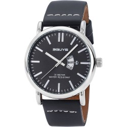 3GUYS Black leather strap 3G78827
