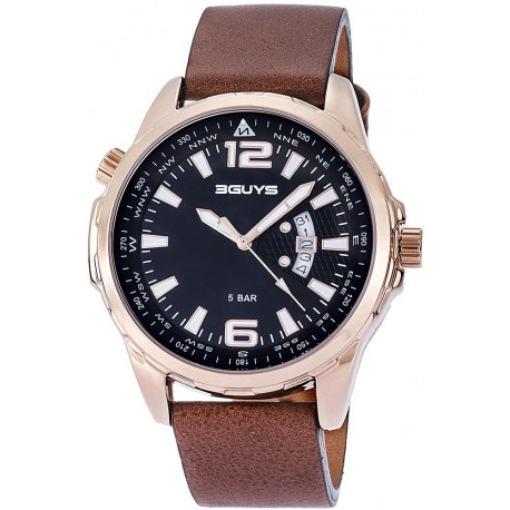 3GUYS Brown leather strap 3G14601