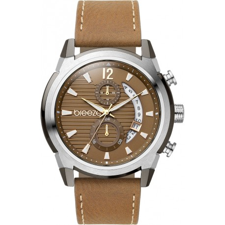 BREEZE UBERLUX brown leather strap