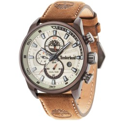 TIMBERLAND HENNIKER II brown leather strap 14816JLBN-07