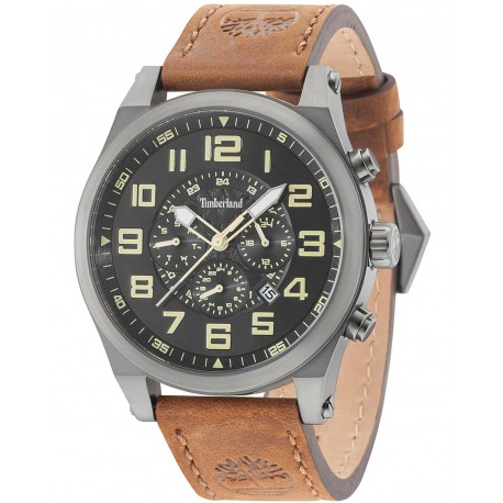 TIMBERLAND TILDEN Chronograph brown leather strap 15247JSU-02