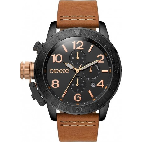 BREEZE KRYPTONITE brown leather strap 110702.4