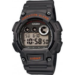 CASIO COLLECTION black rubber strap W-735H-8AVEF