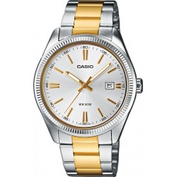 CASIO COLLECTION two-tone stainless steel bracelet MTP-1320