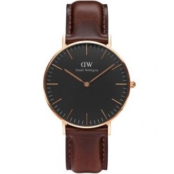 DANIEL WELLINGTON CLASSIC BLACK BRISTOL rose gold DW00100137