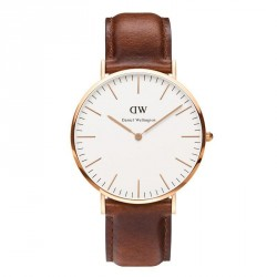 DANIEL WELLINGTON ST.MAWES brown leather strap DW00100006
