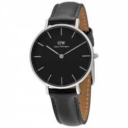 DANIEL WELLINGTON CLASSIC PETITE SHEFFIELD black leather strap DW00100180