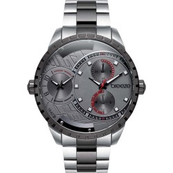 BREEZE AVATAR dual time two-tone stainless steel bracelet 610862.4