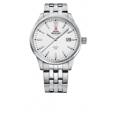 SWISS MILITARY by CHRONO Mens stainless steel bracelet