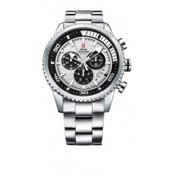SWISS MILITARY by CHRONO Mens satinless steel bracelet