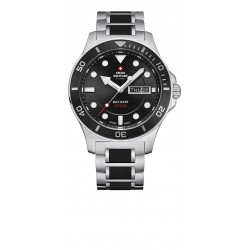 SWISS MILITARY by CHRONO Mens two-tone stainless steel bracelet