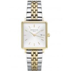 ROSEFIELD THE BOXY two-tone stainless steel bracelet QVSGD-Q013