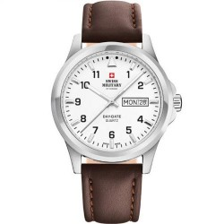 SWISS MILITARY by CHRONO Mens brown leather strap SM34071.02