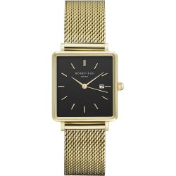ROSEFIELD THE BOXY GOLD Black dial QBMG-Q06