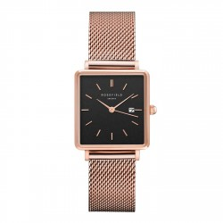 ROSEFIELD THE BOXY ROSEGOLD Black dial QBMR-Q05