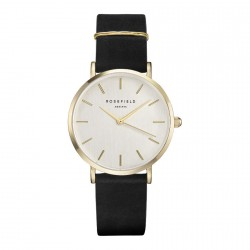 ROSEFIELD THE WEST VILLAGE Black leather strap WBLG-W71