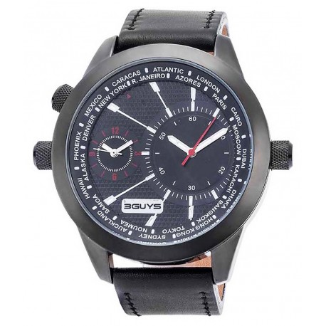 3GUYS DUAL TIME black dial 3G14583