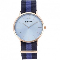 3GUYS BLUE DIAL multicolor nato strap