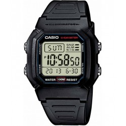 CASIO COLLECTION ILLUMINATOR black rubber strap W-800H-1AVES