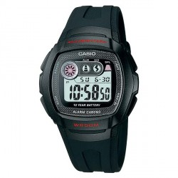 CASIO COLLECTION ILLUMINATOR black rubber strap W-210-1CVES