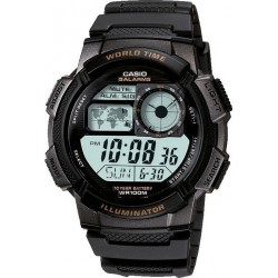 CASIO COLLECTION black rubber strap AE-1000W-1AVEF
